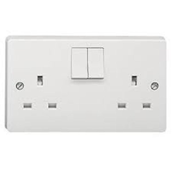Crabtree Capital 4306/D 13A 2 Gang Dp Switched Socket - SND Electrical Ltd