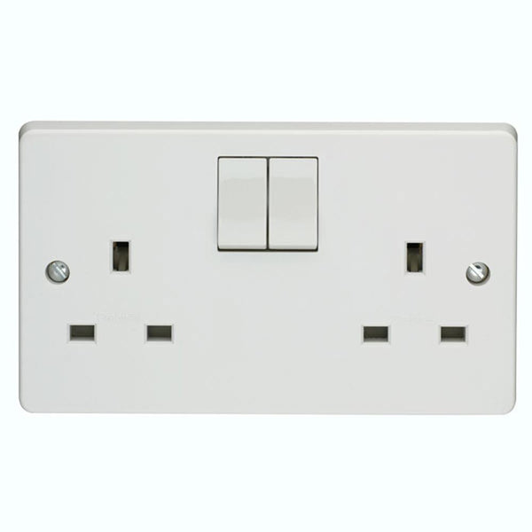 Crabtree Capital 4306 13A 2 Gang Switched Socket - SND Electrical Ltd