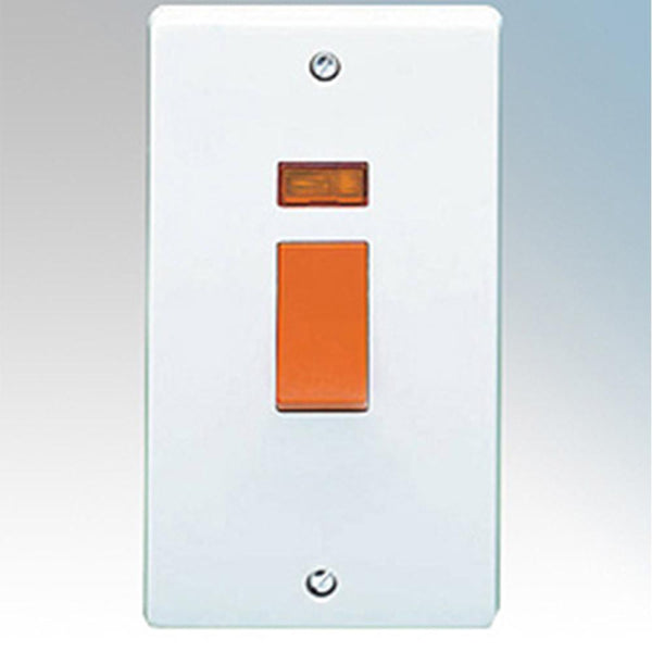 Crabtree Capital 4500/3 50A Dp Switch & Neon - SND Electrical Ltd
