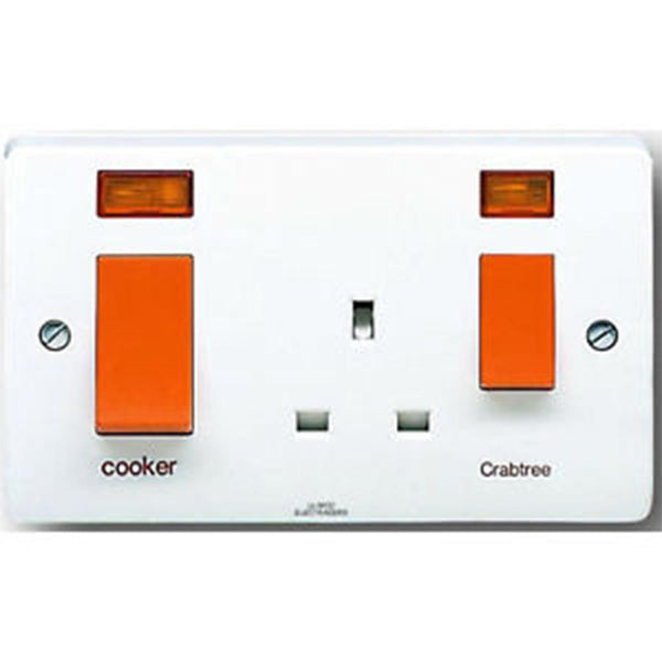Crabtree Capital 4521/1 45A Slim Cooker Control Unit - SND Electrical Ltd