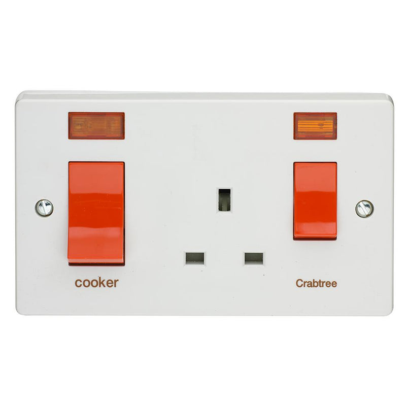Crabtree Capital 4521/31 45A Slim Cooker Control Unit & Neon - SND Electrical Ltd