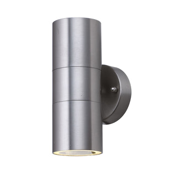 Searchlight 5008-2-LED Stainless Steel Outdoor Wall Light