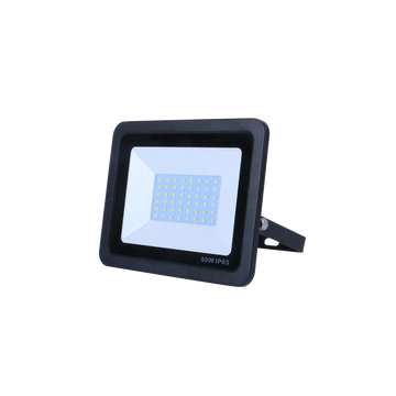 SND Electrical FLSMD50W/3K/B -7 50w Floodlight 3000k Black (Non PIR)