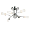 Endon 146-6CH Havana Chrome 6 Light Semi Flush