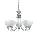 Endon 1805-5SC Alton 5 Light Satin Chrome Multi Light Pendant