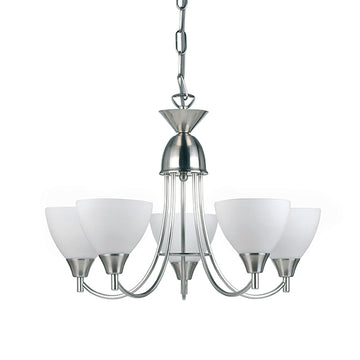 Endon 1805-5SC Alton 5 Light Satin Chrome Multi Arm Light