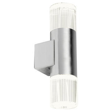 Endon YG-7501 Grant 2 Light Daylight White LED Stainless Steel Wall Light