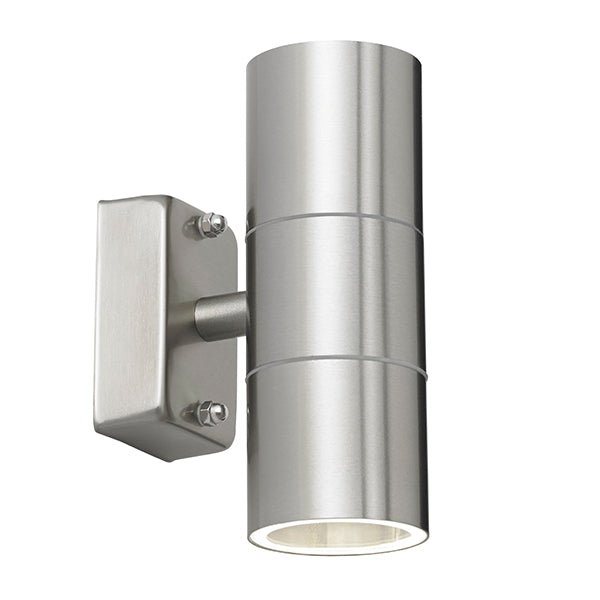 Endon EL-40095 Canon 2 Light Stainless Steel Wall Light IP44 - SND Electrical Ltd