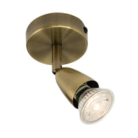 Endon 60998 Amalfi Antique Brass Single Spotlight - SND Electrical Ltd