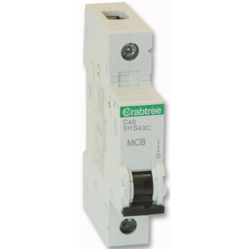Crabtree 6HS40C 40A SP Type C MCB - SND Electrical Ltd