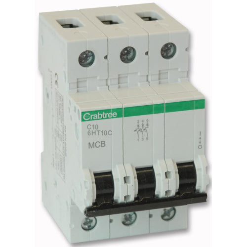 Crabtree 6HT10C 10A TP Type C MCB - SND Electrical Ltd