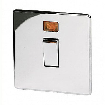 20A DP Switch Crabtree Platinum Highly Polished Chrome