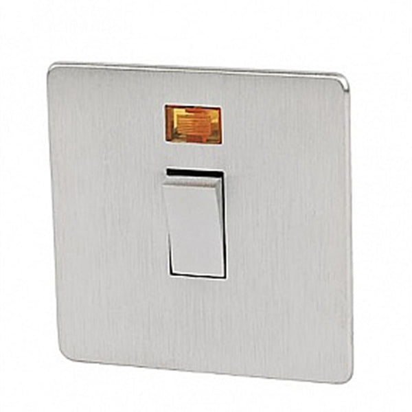 Crabtree Platinum 7011-3SC 20A DP Switch Satin Chrome - SND Electrical Ltd