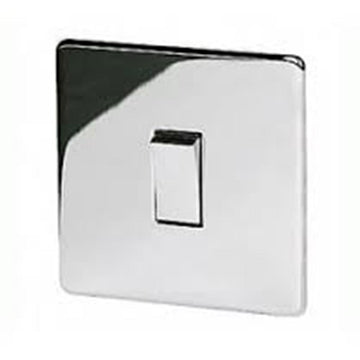 1 Gang 20A 1 Way Switch Crabtree Platinum Highly Polished Chrome