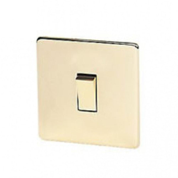 Crabtree Platinum 7011-PB 1 Gang 20A 1 Way Switch Brass - SND Electrical Ltd