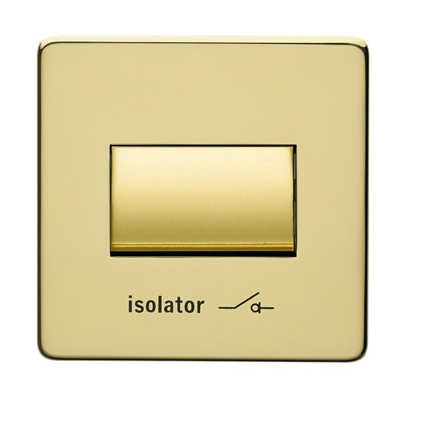 Crabtree Platinum 7017-PB Fan isolator Switch Brass - SND Electrical Ltd