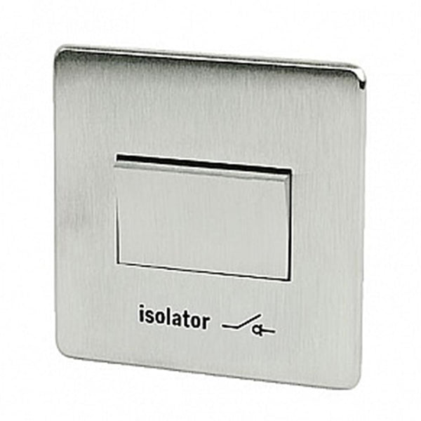 Crabtree Platinum 7017-SC Fan isolator Switch Satin Chrome - SND Electrical Ltd