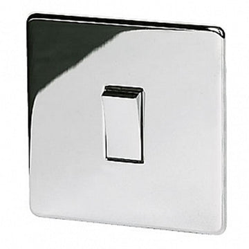 1 Gang Switch Crabtree Platinum Highly Polished Chrome