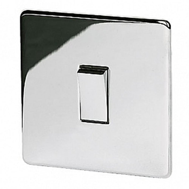 Crabtree Platinum 7170-HPC 1 Gang Switch Highly Polished Chrome - SND Electrical Ltd