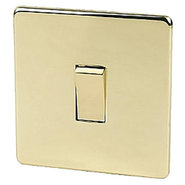 1 Gang Switch Crabtree Platinum Brass