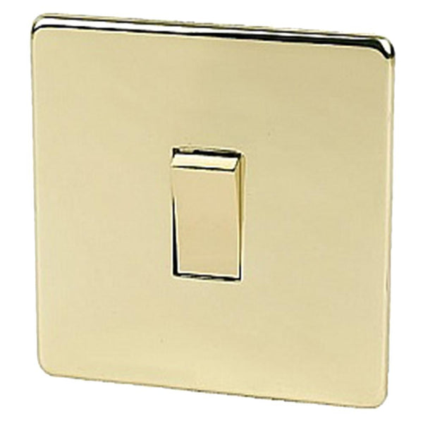 Crabtree Platinum 7170-PB 1 Gang Switch Brass - SND Electrical Ltd