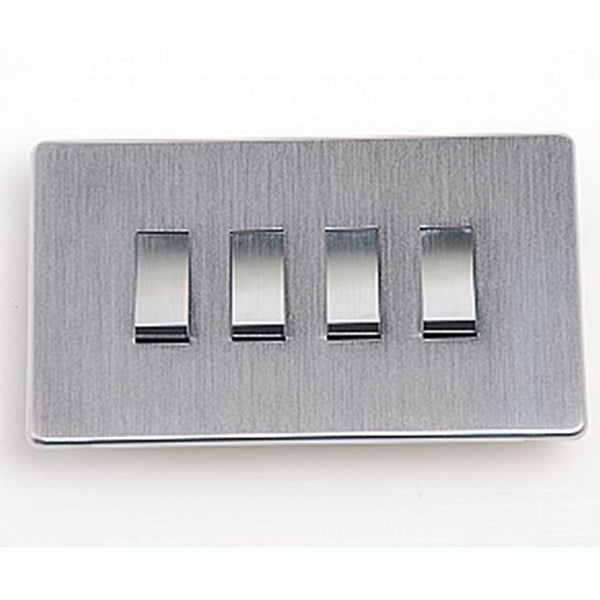 Crabtree Platinum 7174-SC 4 Gang Switch Satin Chrome - SND Electrical Ltd
