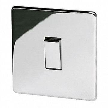1 Gang Intermediate Switch Crabtree Highly Polished Chrome
