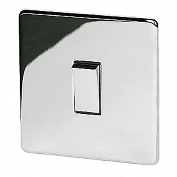 1 Gang Intermediate Switch Crabtree Highly Polished Chrome - SND Electrical Ltd