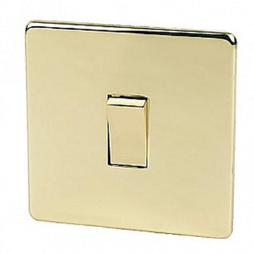 1 Gang Intermediate Switch Crabtree Platinum Brass
