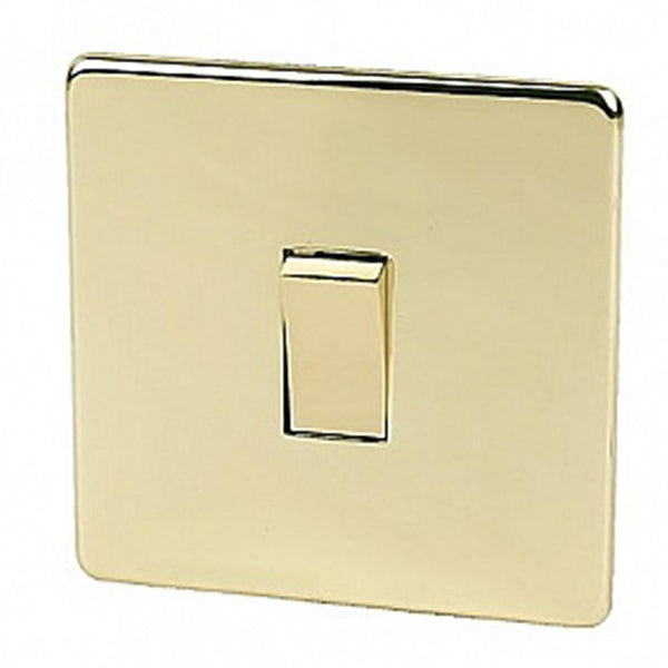 Crabtree Platinum 7175-PB 1 Gang Intermediate Switch Brass - SND Electrical Ltd