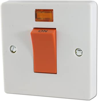 Crabtree Capital 4016/3 45A Dp Switch & Neon