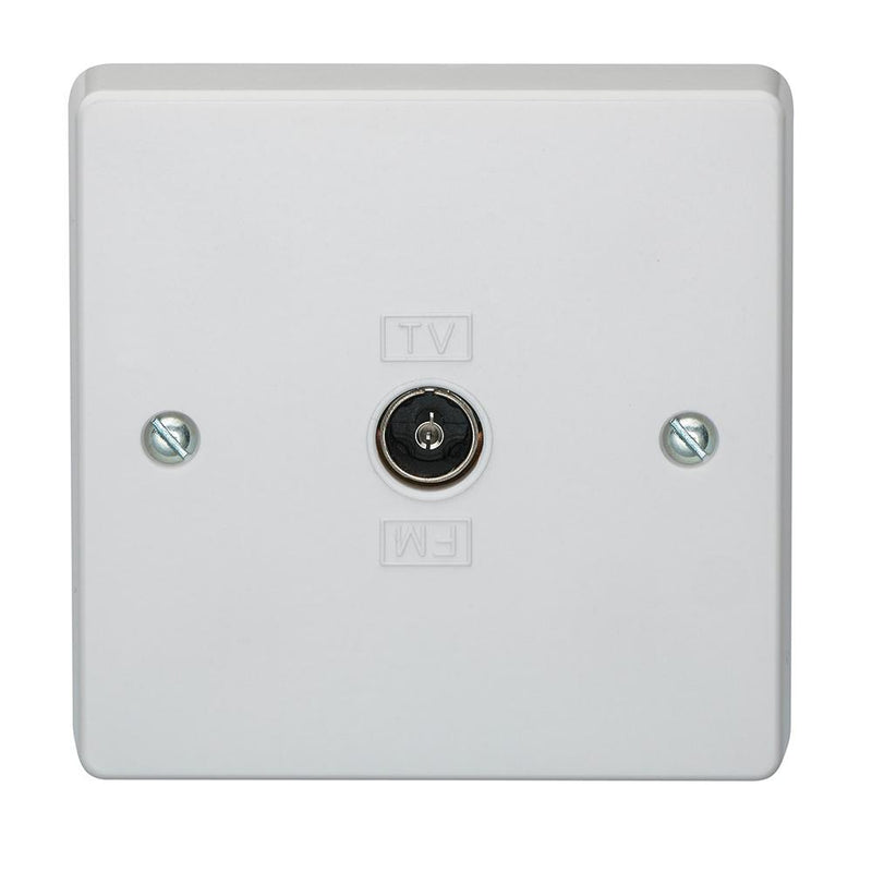 Crabtree Capital 7265 1 Gang Co-Axial Socket Direct Connection - SND Electrical Ltd