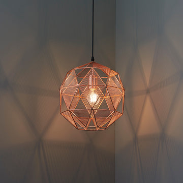 Endon 72815 Armour Caged Copper Single Pendant