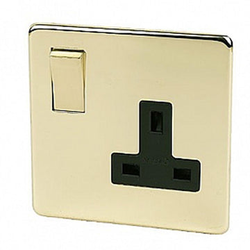 1 Gang Socket Crabtree Platinum Brass