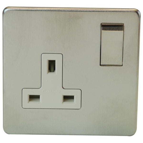 1 Gang Socket Crabtree Platinum Satin Chrome - SND Electrical Ltd