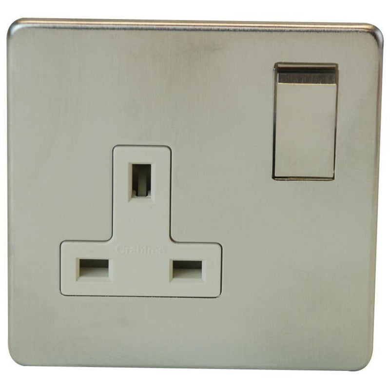 Crabtree Platinum 7314-SC 1 Gang Socket Satin Chrome - SND Electrical Ltd