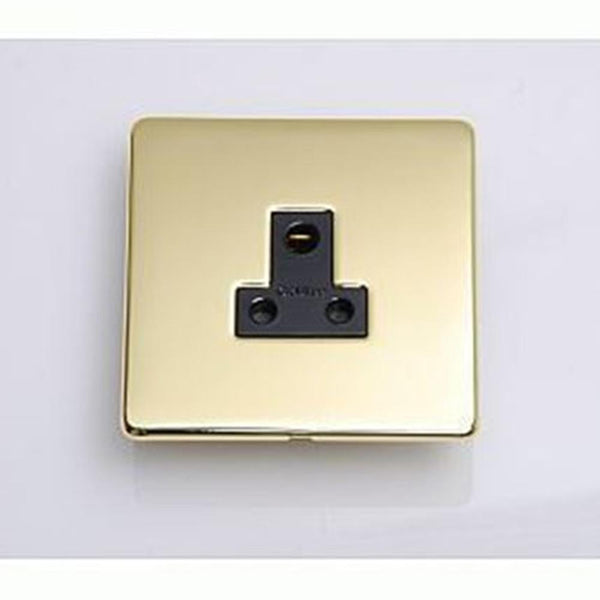 Crabtree Platinum 7340-PB 5A Socket Brass - SND Electrical Ltd