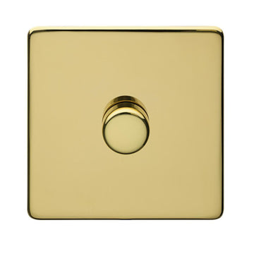 1 Gang Dimmer Crabtree Platinum Brass