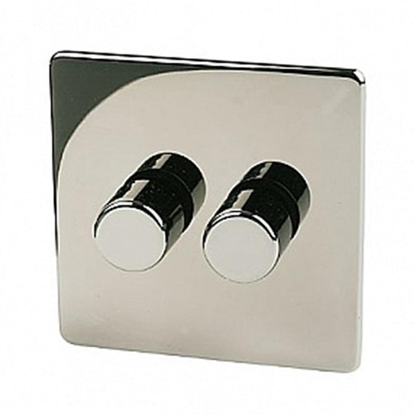 Crabtree Platinum 7400-D2-BKN 2 Gang Dimmer Black Nickel - SND Electrical Ltd