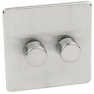 3 Gang Dimmer Crabtree Platinum Satin Chrome