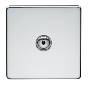 1 Gang Touch Dimmer Crabtree Platinum Highly Polished Chrome