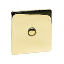 Crabtree Platinum 7400-TD1-PB 1 Gang Touch Dimmer Brass - SND Electrical Ltd