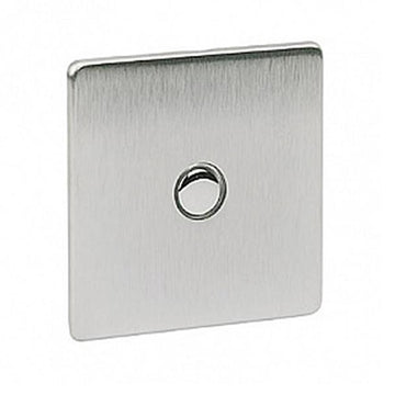 1 Gang Touch Dimmer Crabtree Platinum Satin Chrome