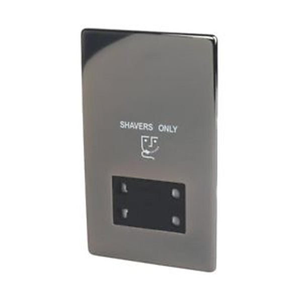Shaver Socket Crabtree Platinum Black Nickel - SND Electrical Ltd
