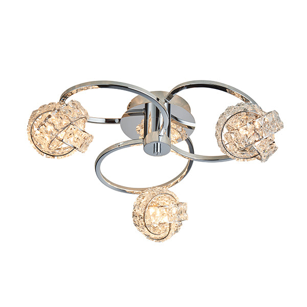 76285 Talia 3 Light Semi Flush Light