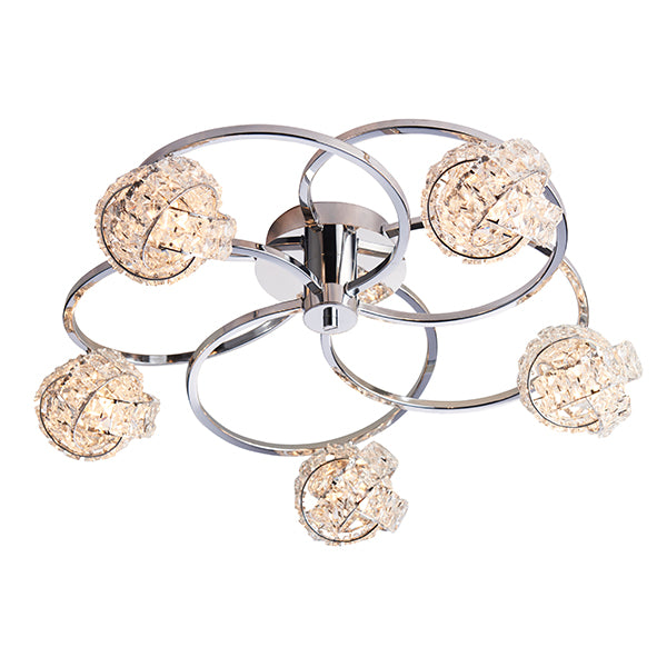 76595 Talia 5 Light Semi Flush Light