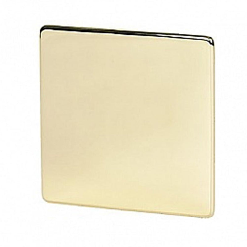 Crabtree Platinum 7775-PB 1 Gang Blank Plate Brass - SND Electrical Ltd