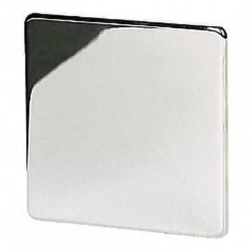 1 Gang Blank Plate Crabtree Platinum Satin Chrome