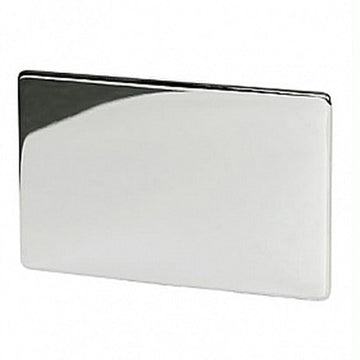 2 Gang Blank Plate Crabtree Platinum Highly Polished Chrome