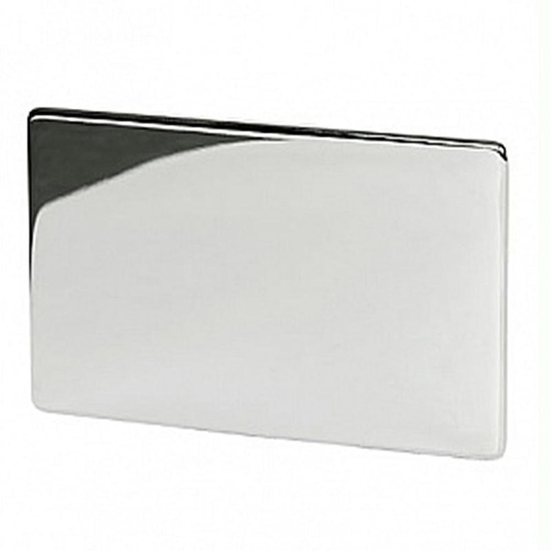 Crabtree Platinum 7777-HPC 2 Gang Blank Plate Highly Polished Chrome - SND Electrical Ltd